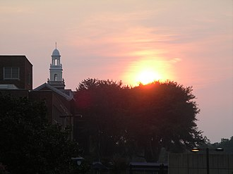 Georgetown University School of Medicine - Image: Georgetown University School of Medicine sunset