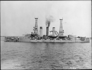 Georgia (BB15). Port side, underway, 06-19-1909 - NARA - 513014.tif