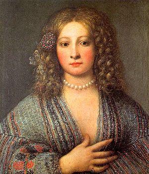 Girolamo Forabosco - Girolamo Forabosco, Portrait of a Courtesan, Galleria degli Uffizi, Florence