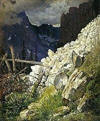 Zwał skalisty w Dolinie Białej Wody w Tatrach