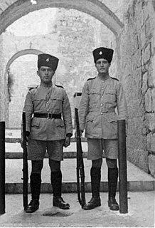 Notrim Jewish police force set up by the British in Mandatory Palestine