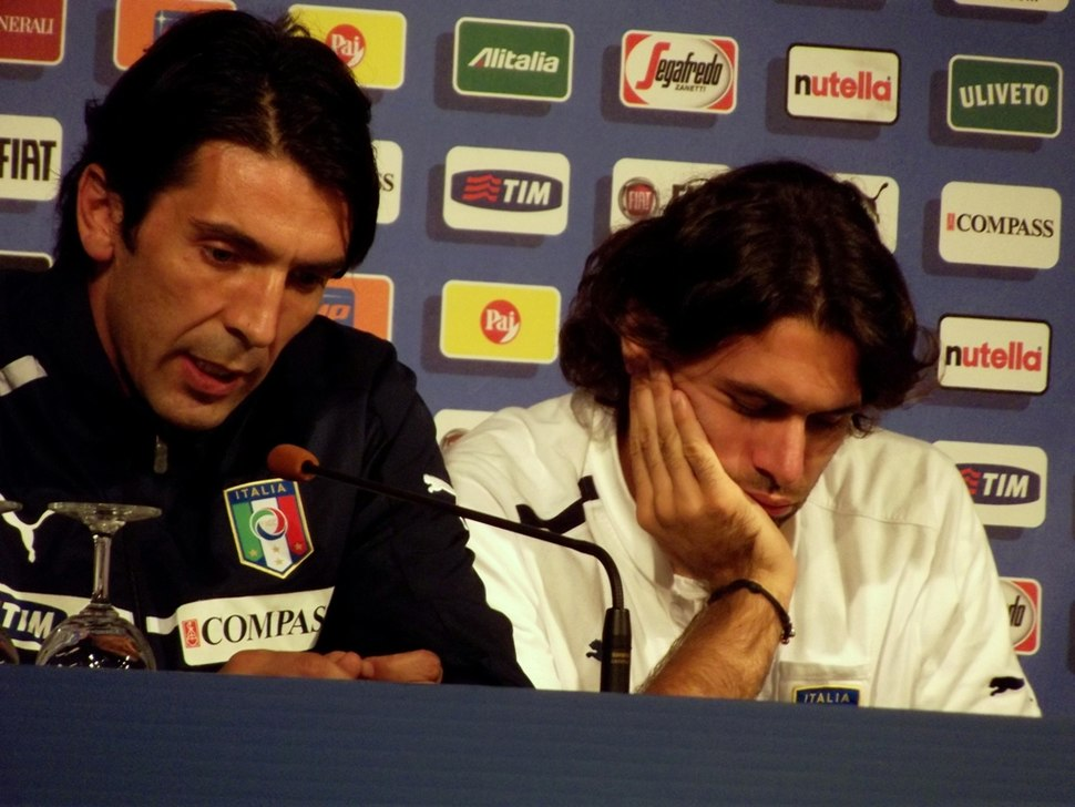 Gianluigi Buffon and Salvatore Sirigu
