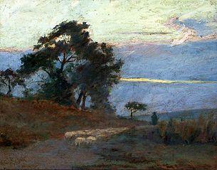 The landscape at sunrise (Daybreak)