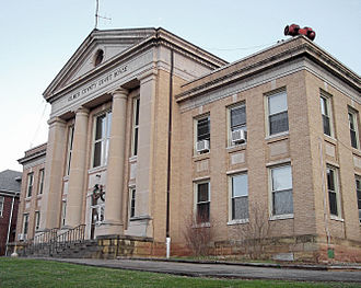 Glenville, West Virginia - The Gilmer County Courthouse in Glenville