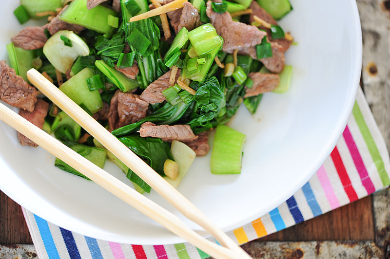 Ginger beef stir fry.  What else is there to say? (image from Wikimedia Commons)