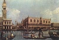 Giovanni Antonio Canal, il Canaletto - View of the Bacino di San Marco (St Mark's Basin) - WGA03899.jpg