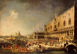 Giovanni Antonio Canal - The Reception of the French Ambassador (Hermitage)