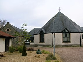 Girdle Parish Church - old Littlestane Farm.JPG