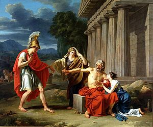 Sophocles - Oedipus at Colonus by Jean-Antoine-Théodore Giroust (1788), Dallas Museum of Art