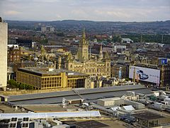 A view over Glasgow City Chambers