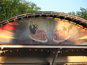 Bumper cars - Image: Glen Echo Bumper Car Pavilion Sign