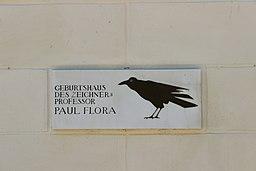 Glurns Rathaus Infotafel Paul Flora