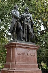 Goethe- und Schiller-Denkmal im Golden Gate Park, San Francisco (Quelle: Wikimedia)