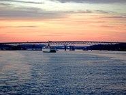 Gold Star Bridge at Sunset