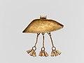 Gold eye-shaped pendant with three tassels MET DP135978.jpg