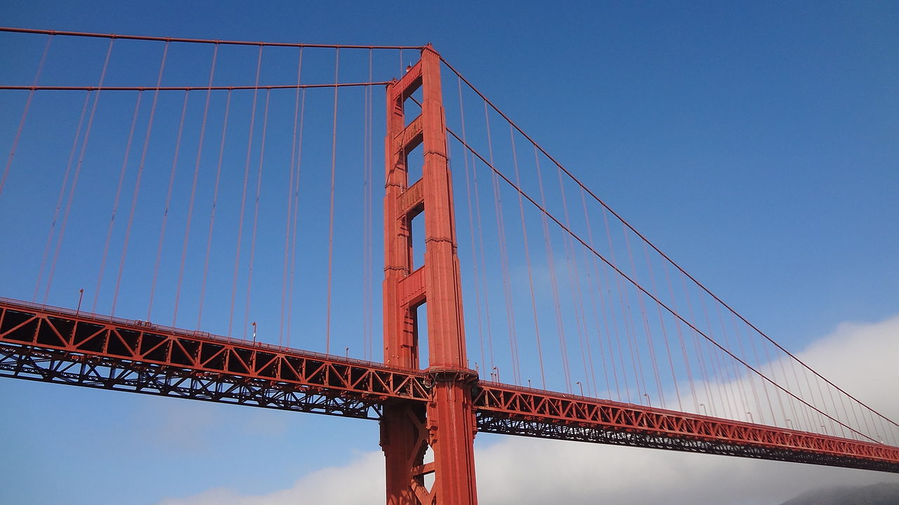 the history of the construction of the golden gate bridge They disembarked at the turnstile leading to the gleaming new golden gate bridge, a spectacular marvel of engineering and design at the time, it was the longest suspension bridge in the world.
