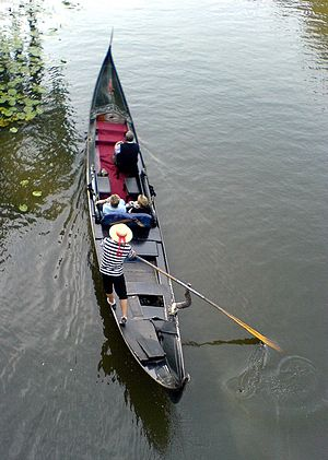 Rowing - A Gondola in Venice
