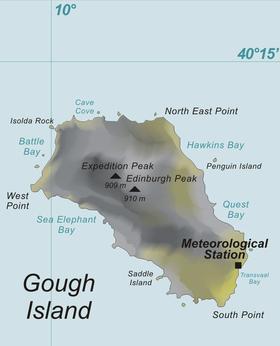 Gough Island Carte Monde