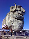 Goulburn Big Merino after being moved 10 June 2007.jpg