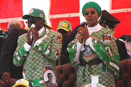 Mugabe and his wife in 2013 Grace Mugabe with Robert Mugabe 2013-08-04 11-53.jpeg