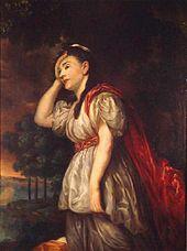 Charlotte Brandes als Ariadne, 1781 gemalt von Graff nach Kupferstich von Heinrich Sintzenich[23] (Quelle: Wikimedia)