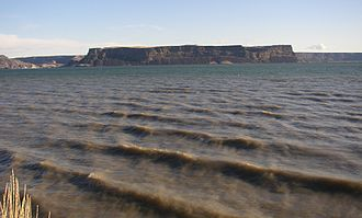 Grand Coulee - Steamboat Rock in the Grand Coulee.