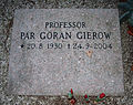 Grave of swedish professor pär göran gierow lund sweden.jpg