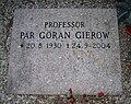 Grave of swedish professor pär göran gierow lund sweden.jpg