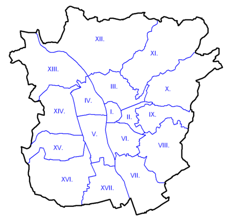 The 17 districts of Graz