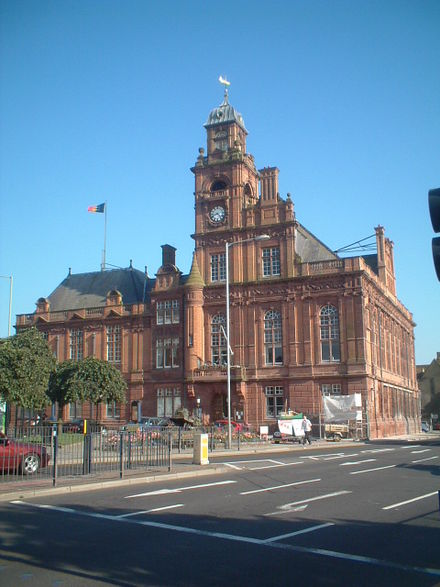 Great Yarmouth Town Hall, Hall Quay, opened: 1883; architect: J.B. Pearce Great Yarmouth Town Hall.jpg