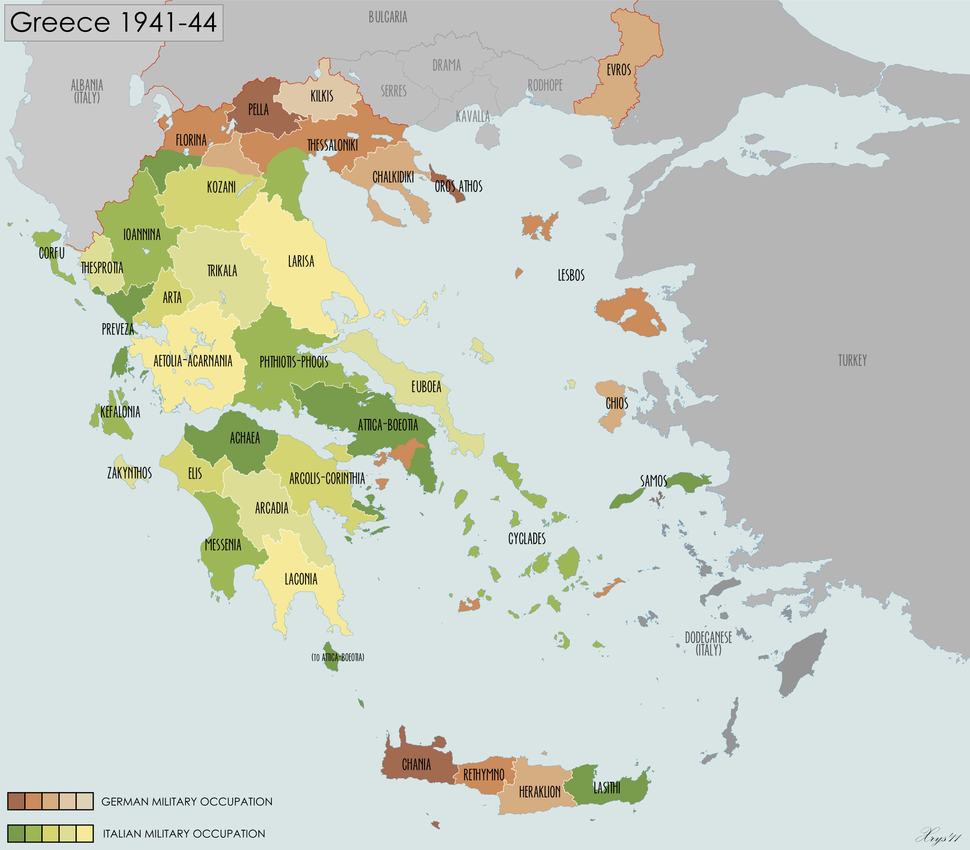 Greece Prefectures 1941-44