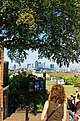 Greenwich - Royal Observatory - View NNW towards Docklands Highrises.jpg