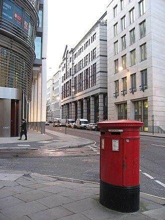 Gresham Street - At the junction of Gresham Street and Milk Street