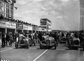1932 French Grand Prix - Grid before the race