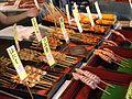 Grilled seafood at Teradomari Fish Market Street 01.jpg