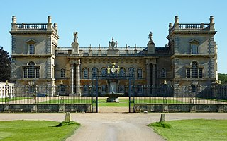 Grimsthorpe Castle country house in Lincolnshire, England