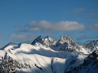 Allgäu Alps mountain range in the Northern Limestone Alps