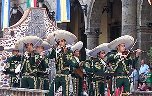 The Amazing Race 28 - One side of the Detour in Mexico City had teams get in touch with the local Mariachi band (pictured is in Guadalajara).