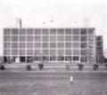 Gualtiero Galmanini, Centro del Mobile di Lissone. Piattaforma atterraggio elicotteri e ascensori sopra il tetto, 1955.png