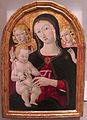 Guidoccio cozzarelli, madonna col bambino e angeli, tempera su tv, 75x54 cm, coll privata.JPG
