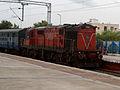 Guntur-KCG-Medchal Passenger at Malkajgiri with WDG-3A loco.jpg