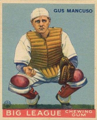 Gus Mancuso - Mancuso with the Giants (c. 1933)