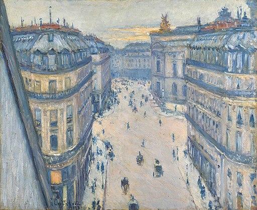 Gustave Caillebotte - Rue Halévy, vue d'un sixième étage