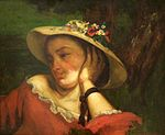 Gustave Courbet - Woman in a Straw Hat with Flowers.jpg