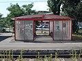 Gyártelep HÉV station, bicycle shelter, 2019 Szigetszentmiklós.jpg