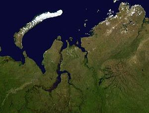 Yamal Peninsula - The satellite map of Yamal Peninsula