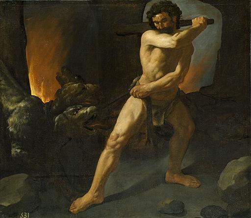Hércules y el Cancerbero, por Zurbarán