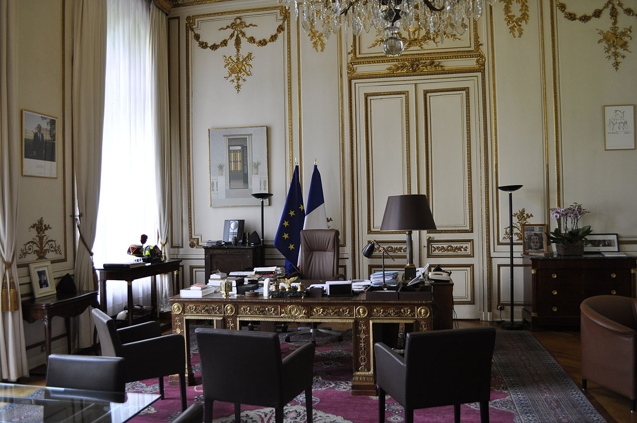 file h tel de beauvau bureau du ministre jpg wikimedia commons. Black Bedroom Furniture Sets. Home Design Ideas