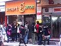 HK Aberdeen 80 Old Main Street 山窿謝記魚蛋 Tse Kee Fish Ball Noodle shop visitors queue Smart-Game shop Biz hours Mar-2012.jpg
