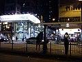 HK STT Shek Tong Tsui 屈地街 Whitty Street 創業商場 Chong Yip Plaza 德輔道西 Des Voeux Road West Tram stop visitors October 2016 Lnv.jpg